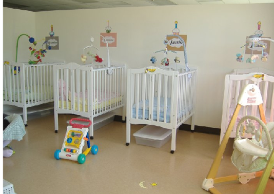 Infant room at Longwood Daycare